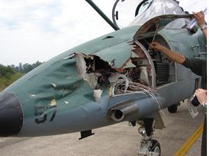 aviao militar - perigo avirio